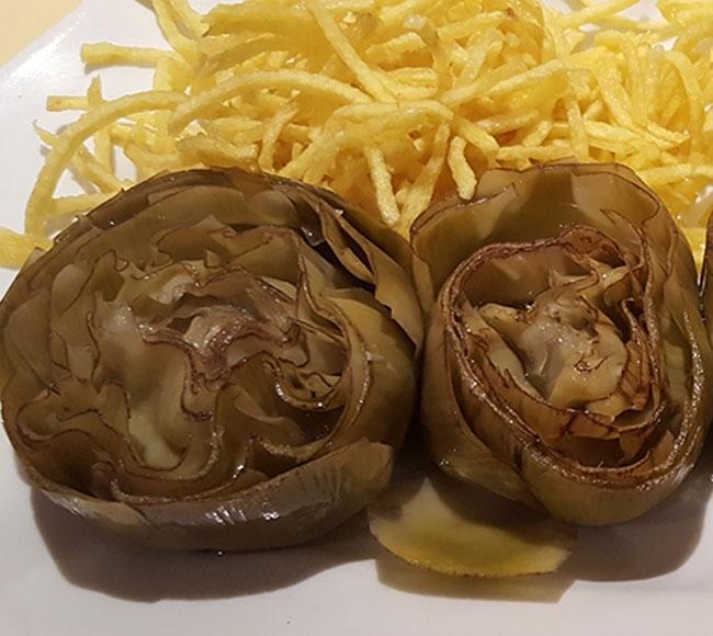Alcachofas confitadas